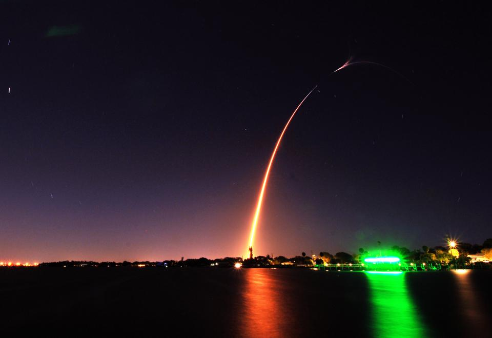 A SpaceX Falcon 9 rocket carrying more than 4,300 pounds of...