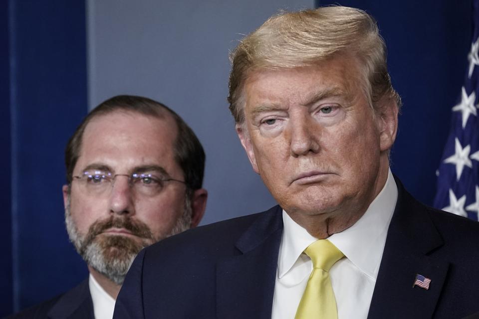 President Trump Joins Coronavirus Task Force Briefing At White House