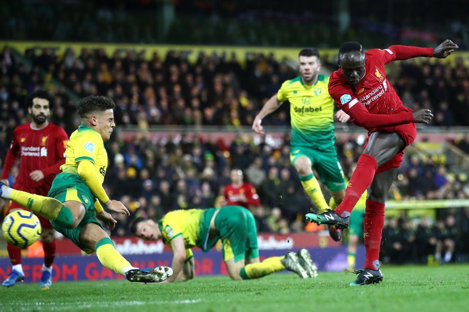 Mane goal Liverpool Norwich