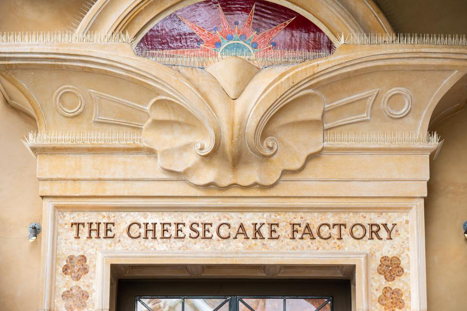 A view of an american restaurant company The Cheesecake...