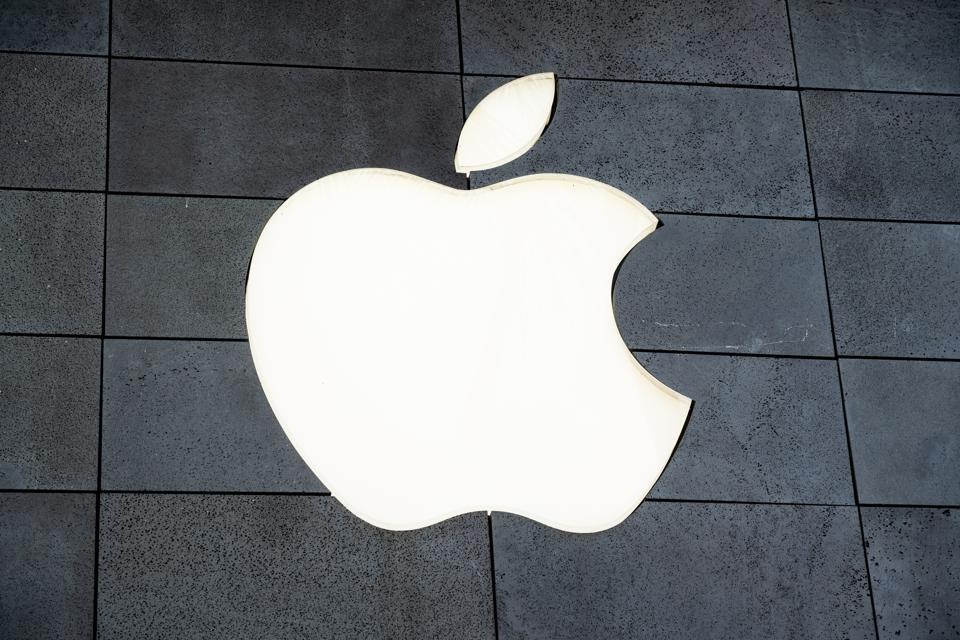 A view of an american multinational technology company Apple...