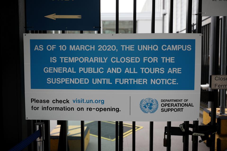 UN closed New York headquarters to public over coronavirus