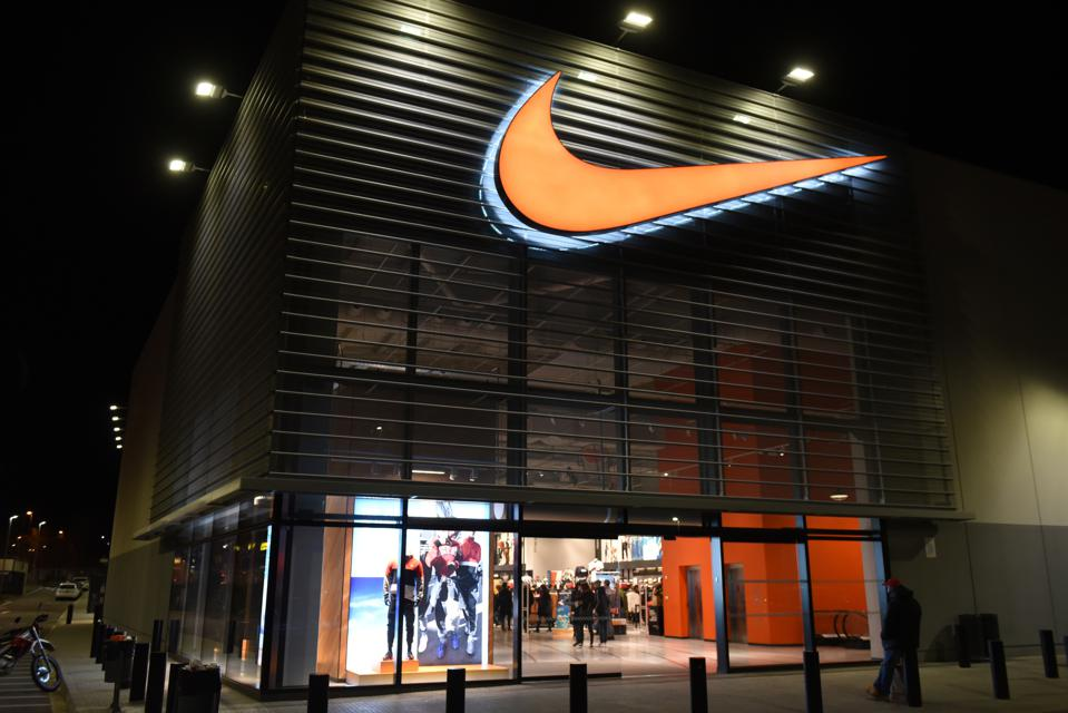 A view of a Nike store...