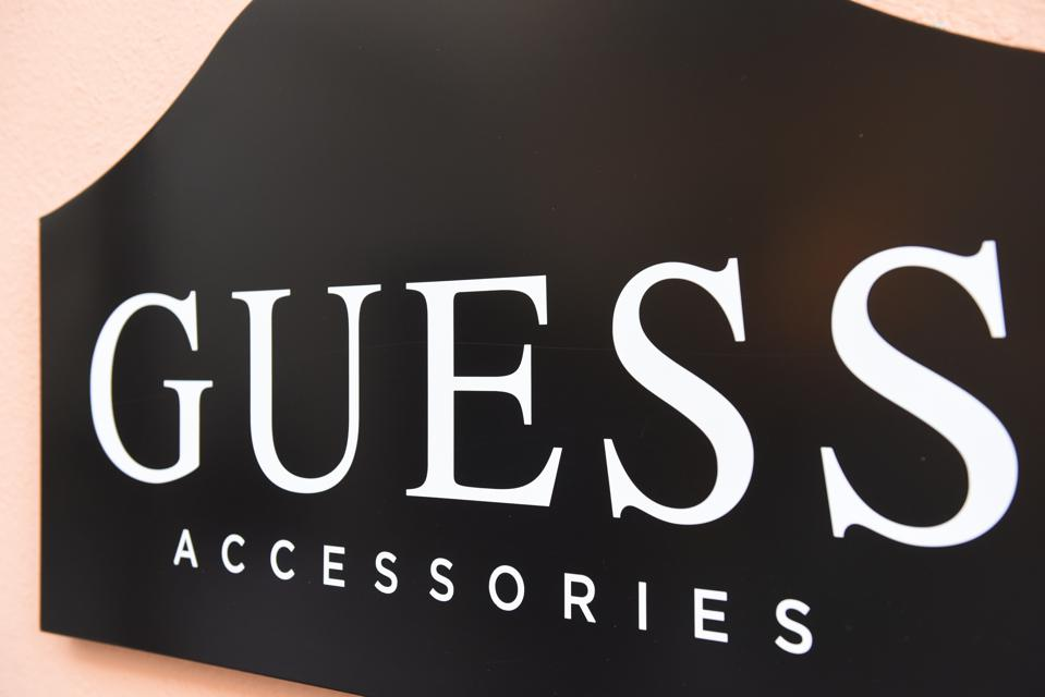 Guess logo seen at a store...