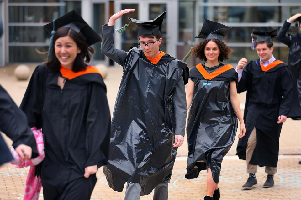 There won't be either pomp or circumstance for this spring's Gen Z college graduates.