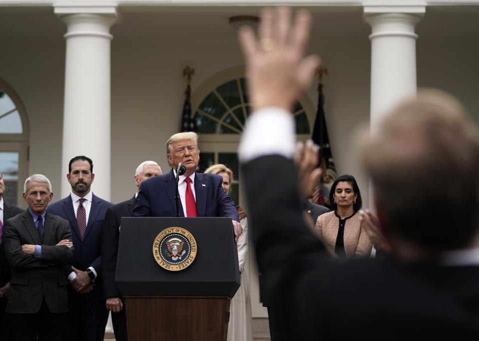 President Trump Speaks To The Nation From White House Amid Coronavirus Pandemic