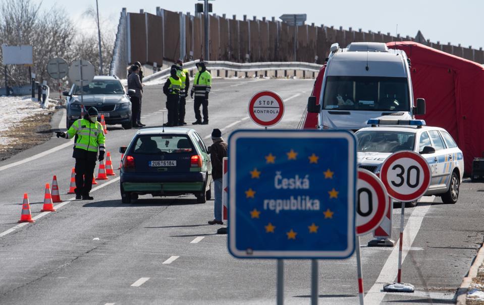 Coronavirus EU borders shut Czech Republic Europe travel ban