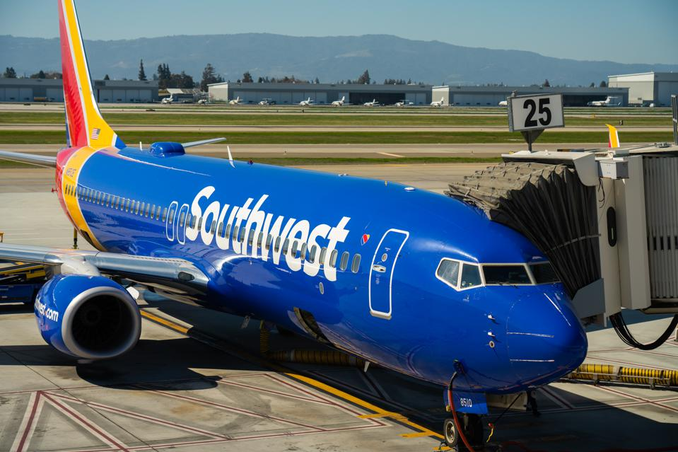 Southwest Airlines Boeing 737-800 aircraft seen at Norman Y...