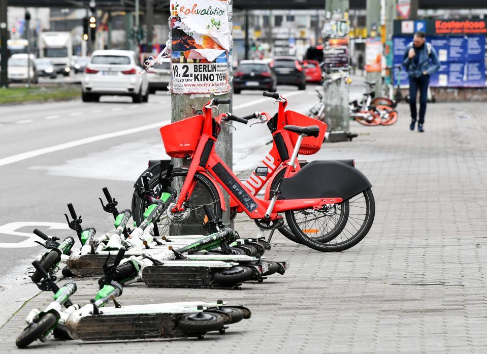 Unused e-scooters