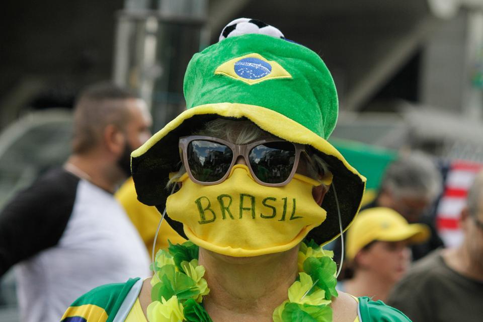 Act In Favor Of Brazilian President Jair Bolsonaro In Sao Paulo