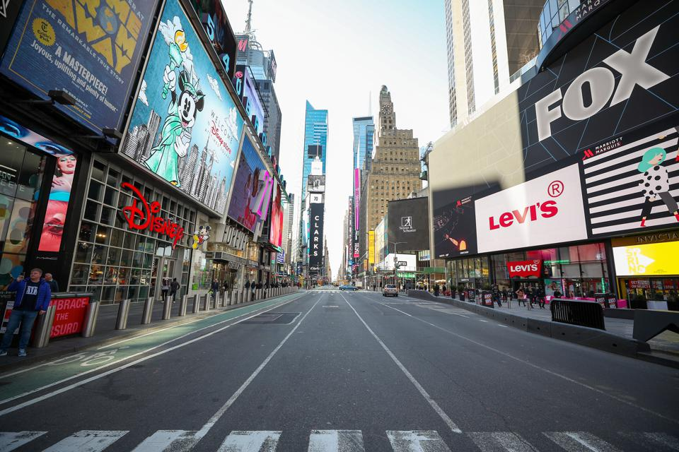 New York City streets getting empty day by day