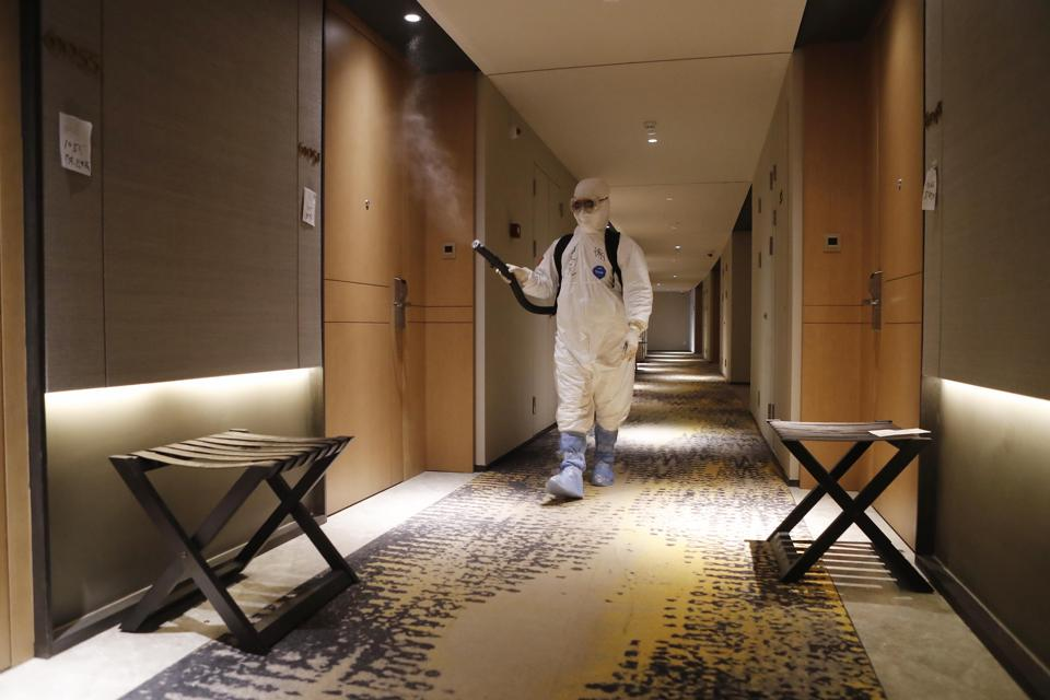 Over 5000 people who enter into Shanghai were sent to the isolation hotel to stop the novel coronavirus come back in Shanghai,China on 16th March, 2020