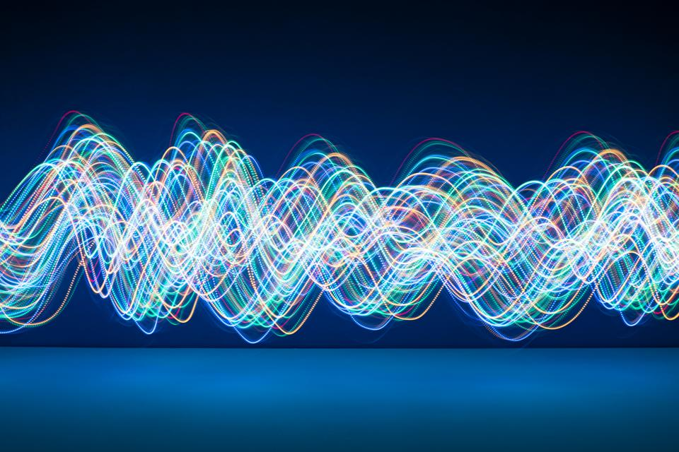 Abstract Flowing Light Trails