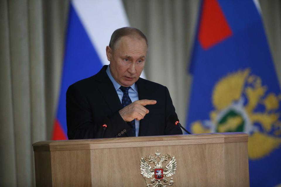 Russian President Vladimir Putin Visits General Prosecutor's Office In Moscow