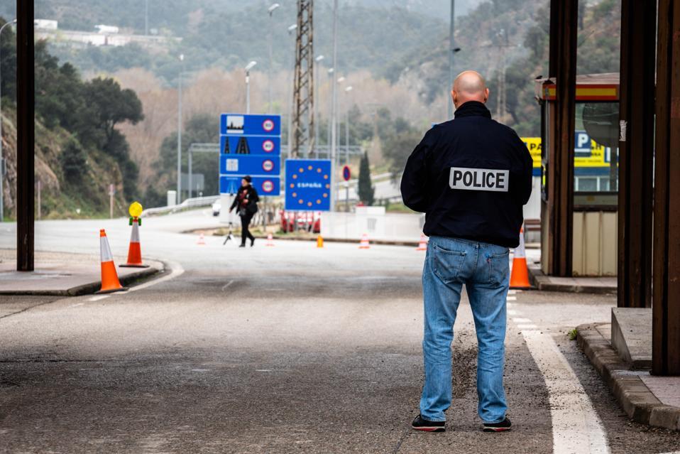 Coronavirus - Spain Border With France