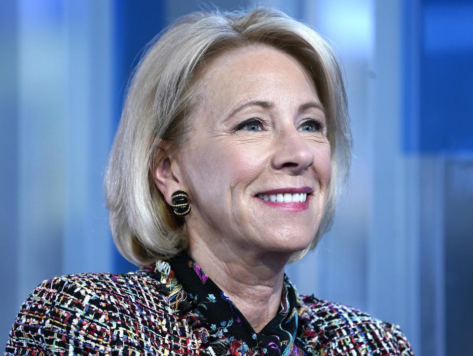 Education Secretary Betsy Devos visits