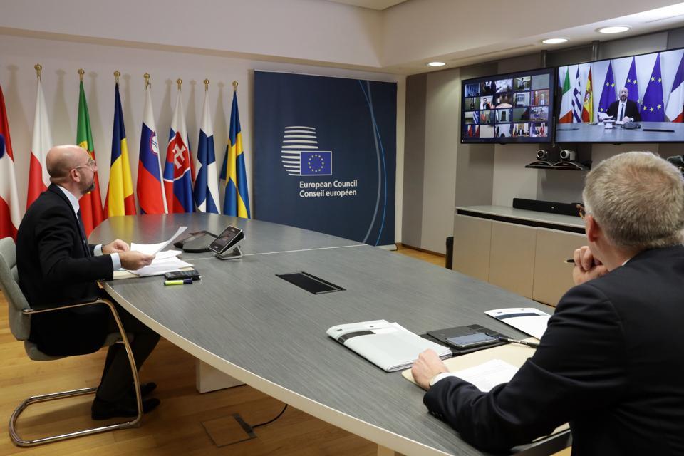 EU Leaders' coronavirus meeting in Brussels