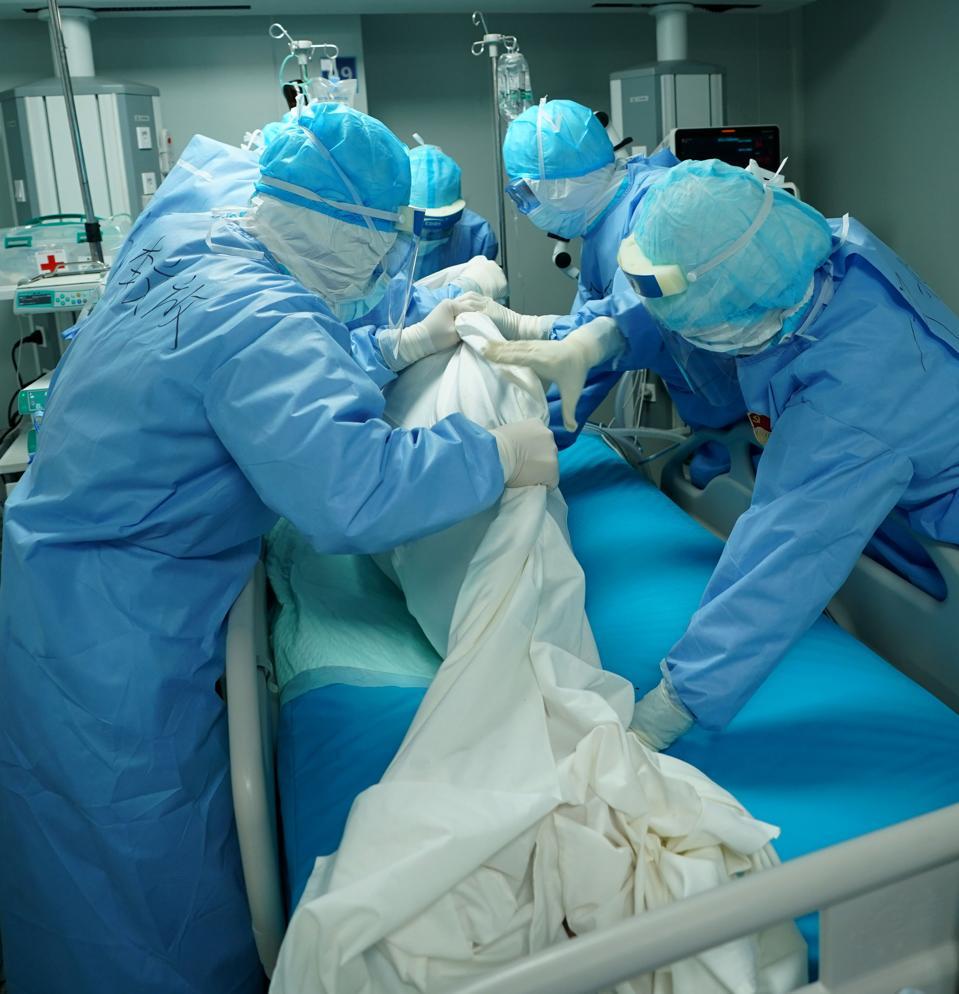 COVID-19 coronavirus proning intensive care hospital ventilator