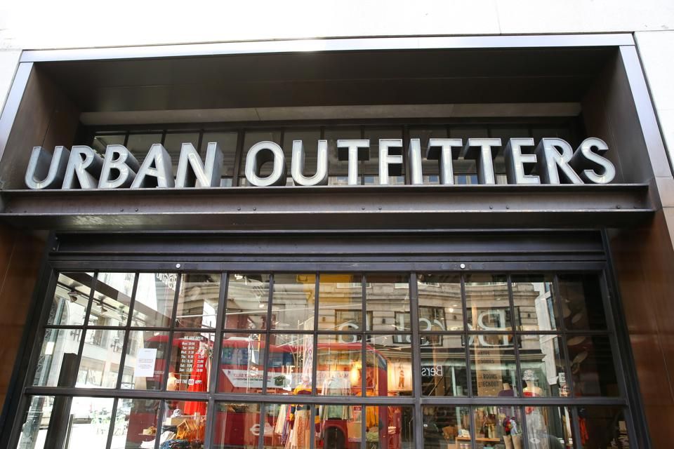 Exterior view of Urban Outfitters in London, UK...