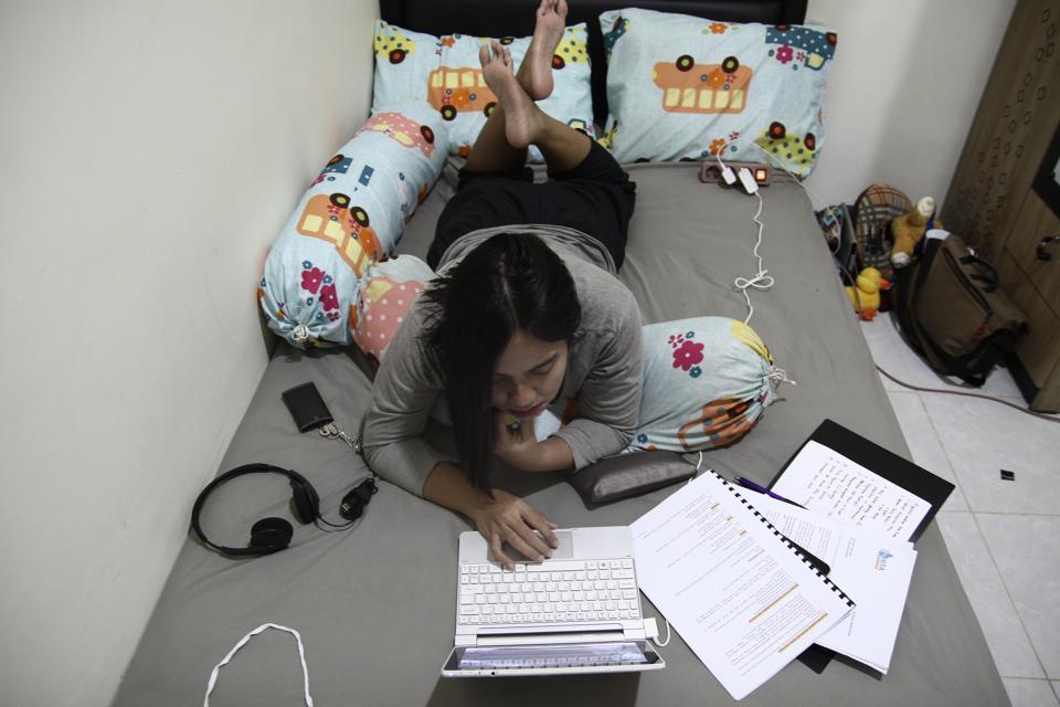 Remote Working In Indonesia Due Coronavirus Emergency