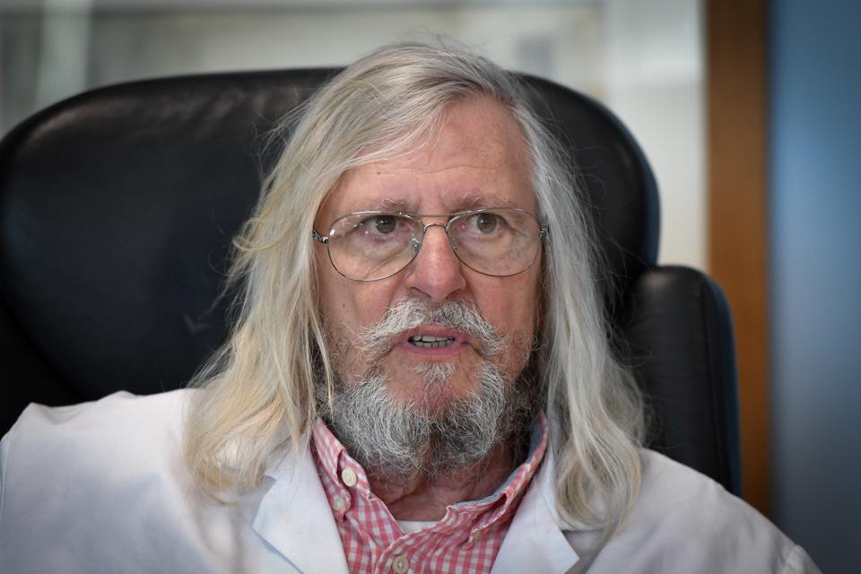 French professor Didier Raoult, biologist and professor of microbiology and director of IHU, Marseille, France.