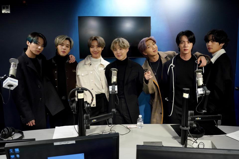 BTS Visits the SiriusXM Studios