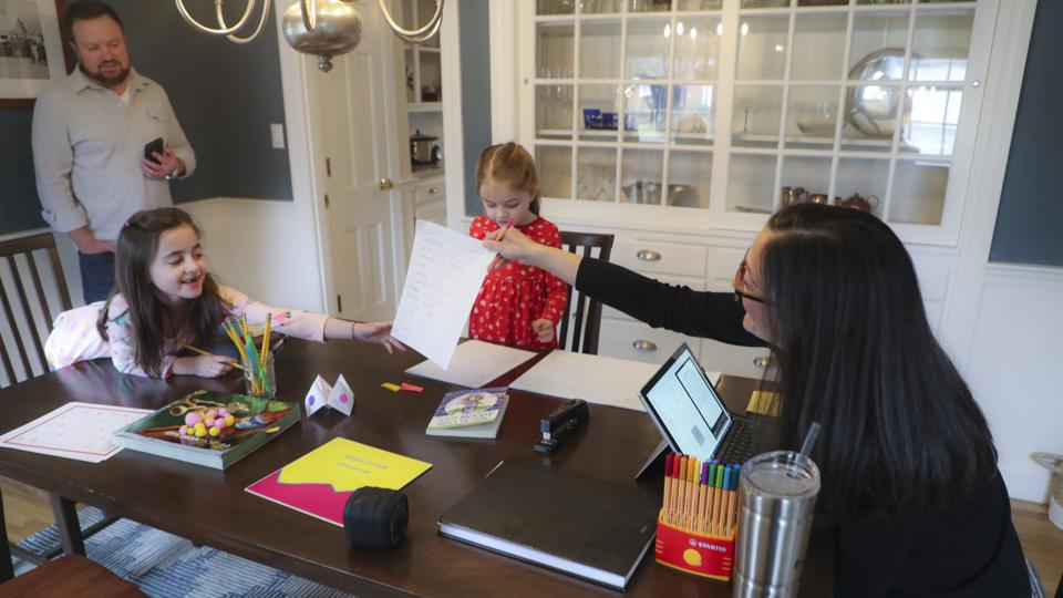 Families Work and Learn Together at Home