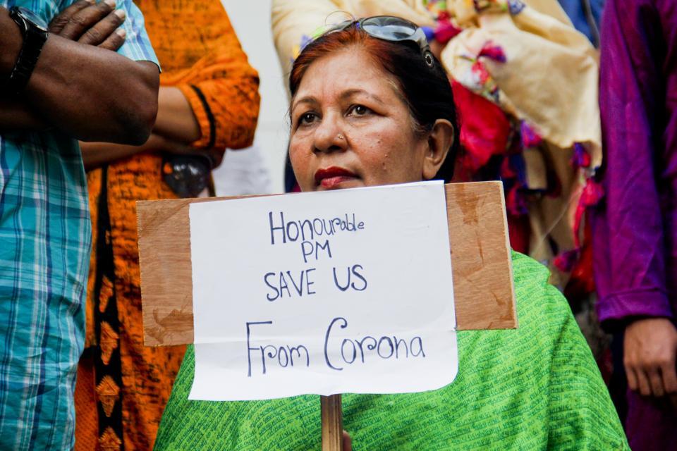 Corona virus garment workers