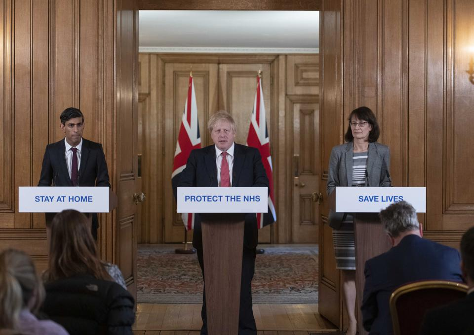 Prime Minister's Daily Press Conference Announces Bar Closures And Salary Aid