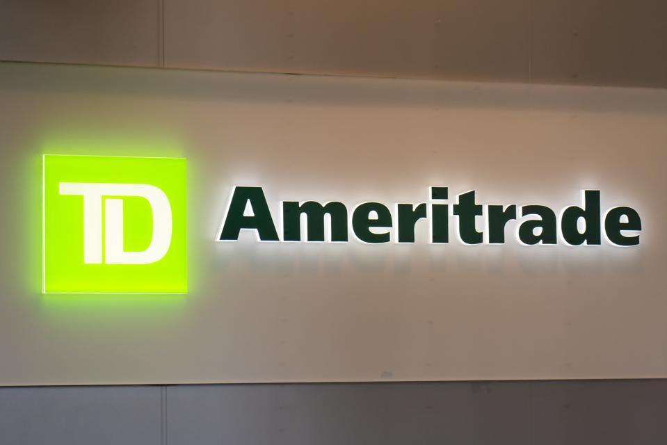 TD Ameritrade logo seen in Lower Manhattan...