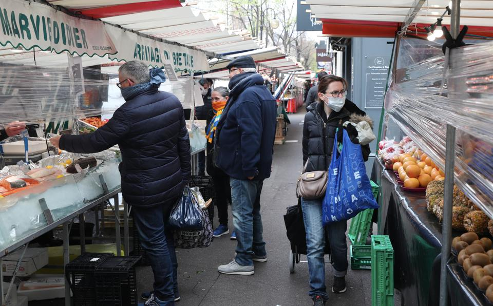 France Faces The Coronavirus Lockdown Outdoor Marketplaces closed