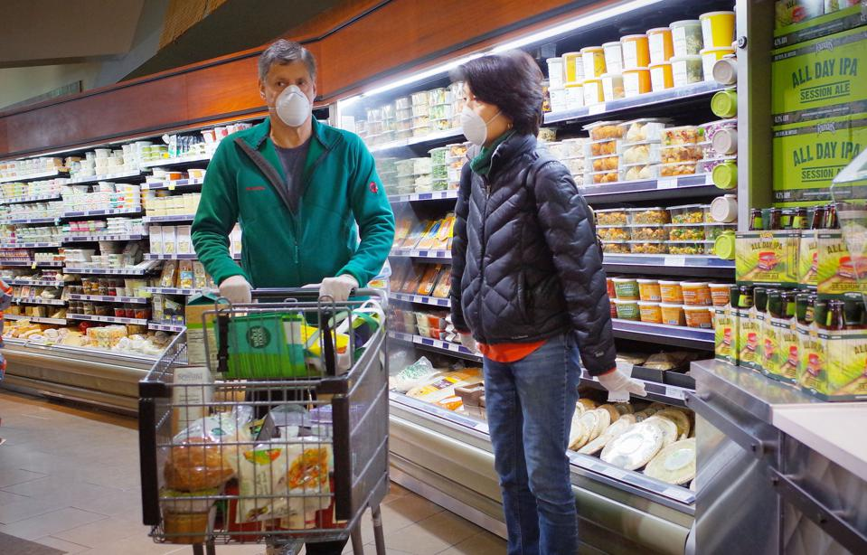 Grocery store workers have increased public interaction and risk of exposures. What can be done to protect them?