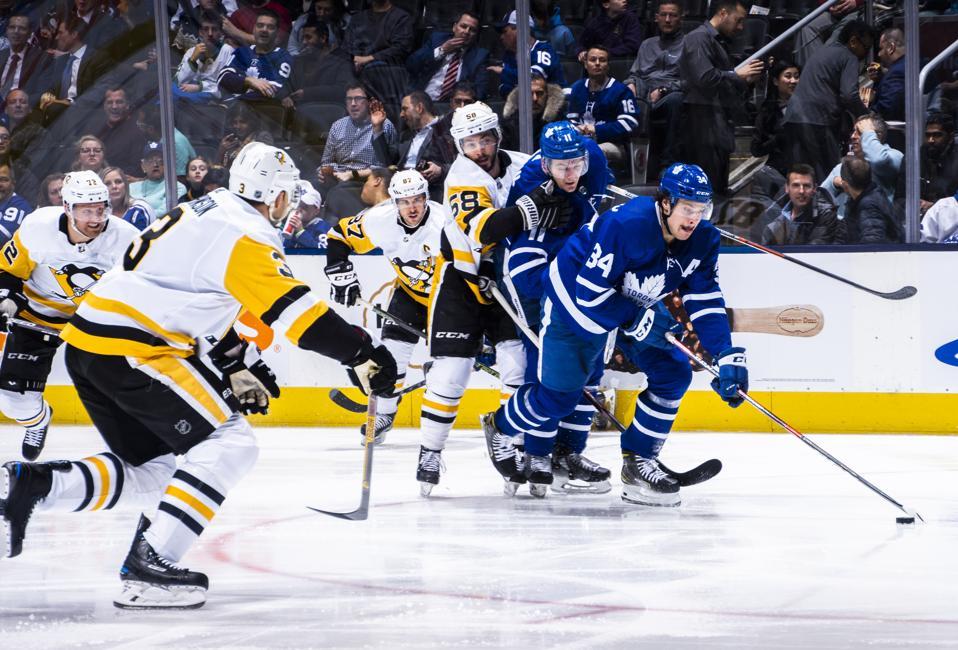 Auston Matthews Chasing Franchise History At NHL's Three-Quarter Mark