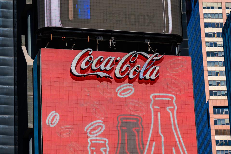 Coca-Cola logo seen in Midtown Manhattan...