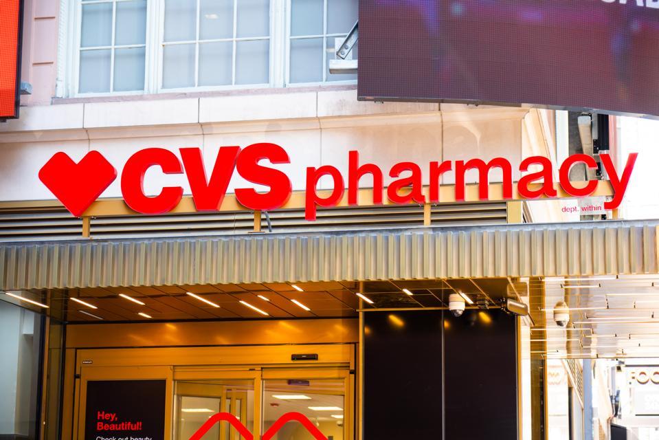 American retail and health care company, CVS Pharmacy logo...