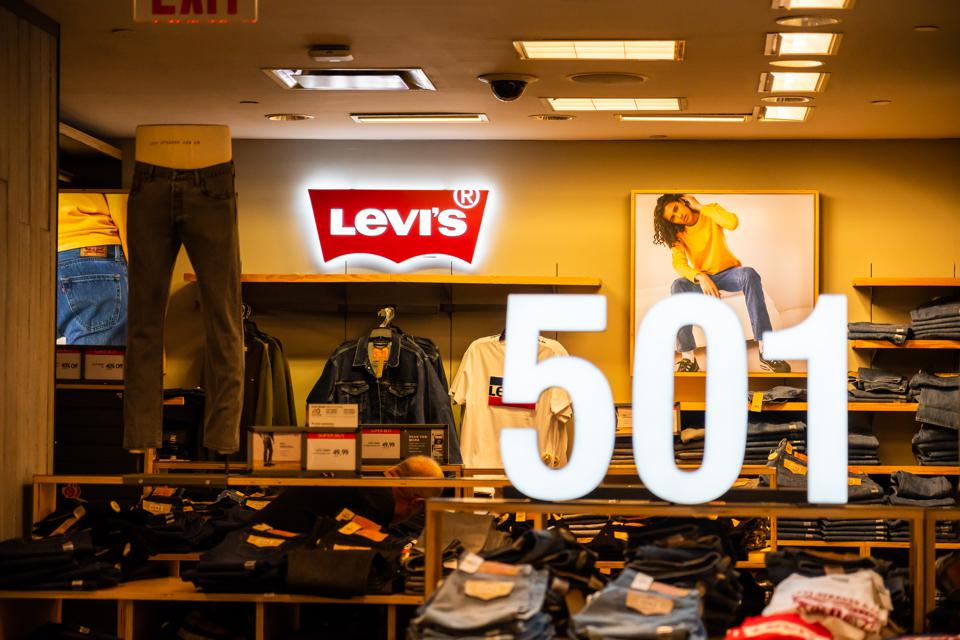 American clothing company, Levi's stall seen in a Macy's...
