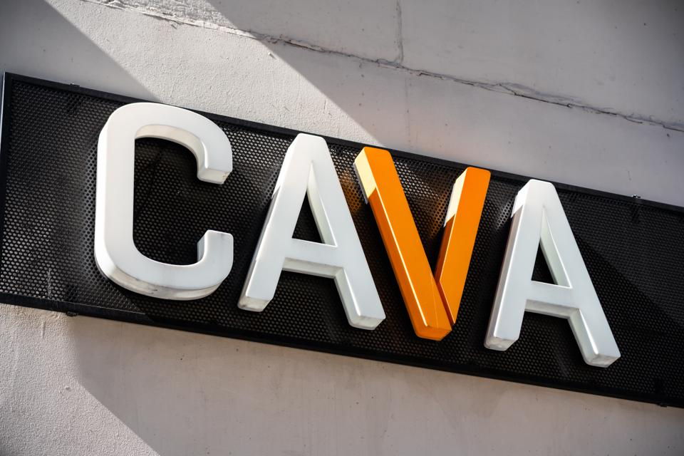 Cava restaurant, logo seen in New York City...