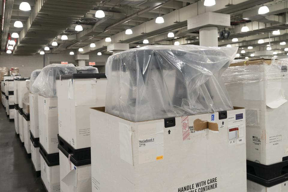 Medical equipment delivered to the Javits Center in New York
