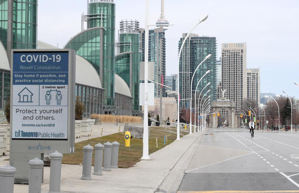 scenes around the city as the City of Toronto declares a state of emergency to try to slow down the spread of COVID-19