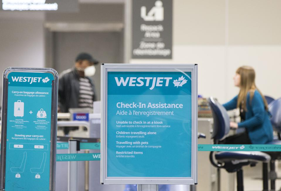 Canadian airline WestJet is now offering free COVID-19 travel insruance