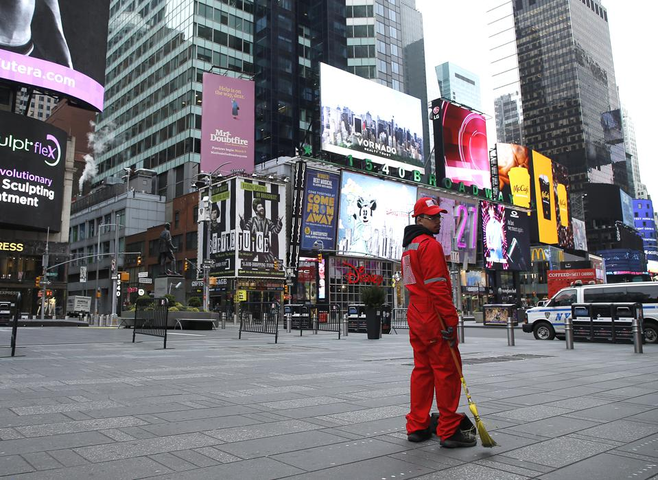 Times Square During The Coronavirus Emergency