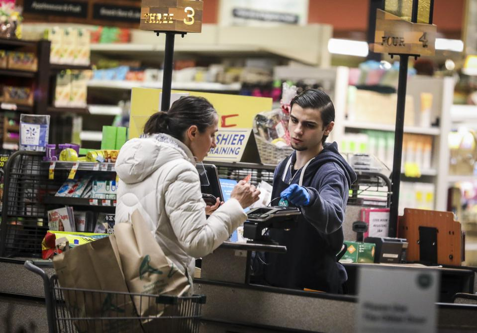 Grocery Stores Up Protection for Workers