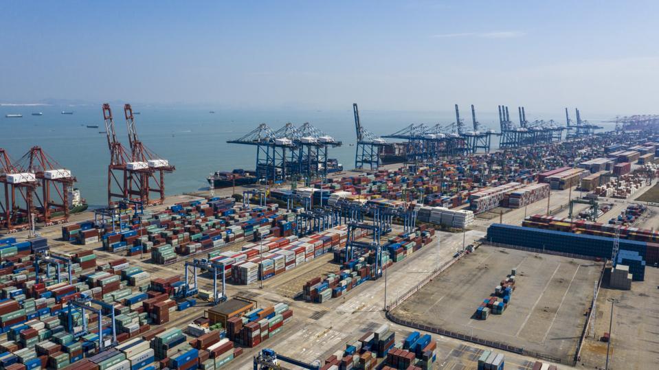 Port of Nansha In Guangzhou