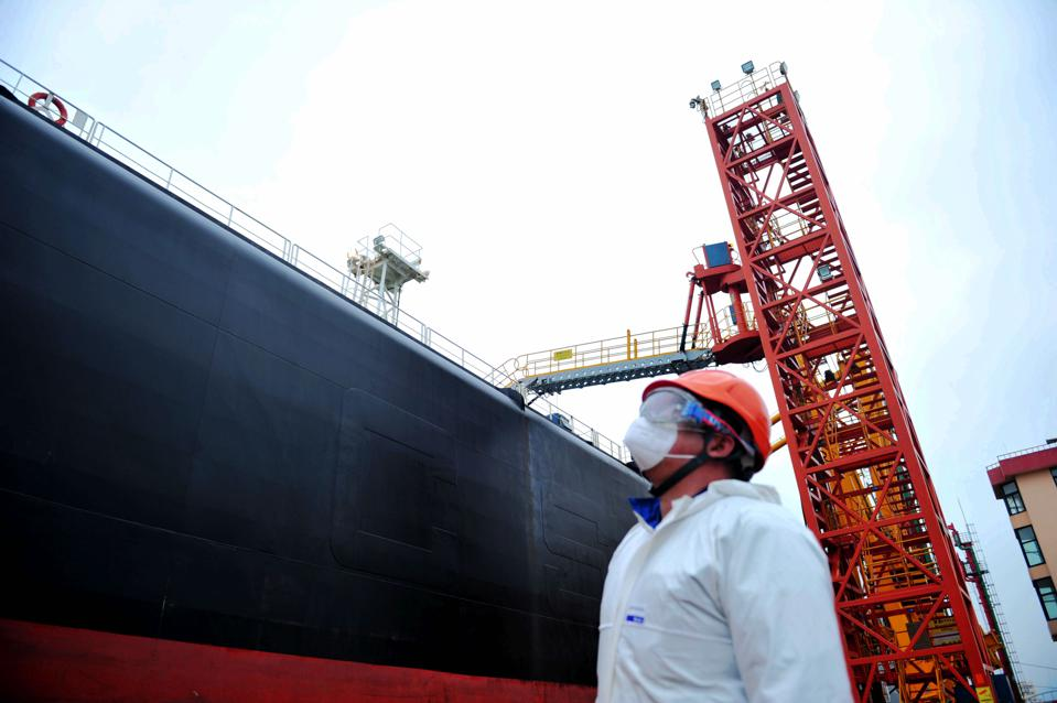Qingdao Port Crude Oil Unloading