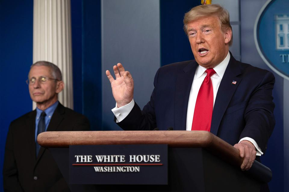 President Trump and Anthony Fauci talk coronavirus COVID-19.