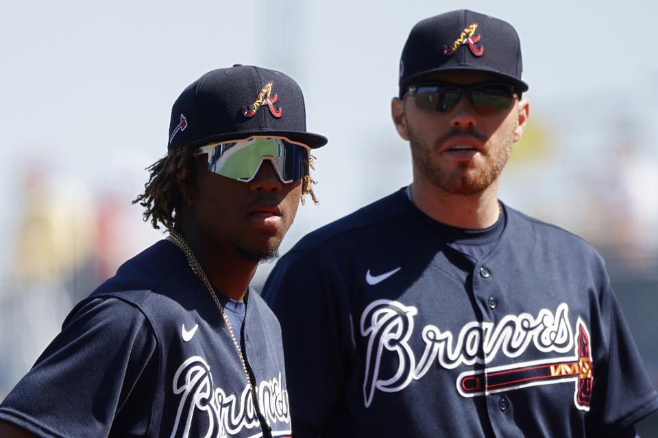 Braves' dynamic duo Ronald Acuna, Jr., and Freddie Freeman.