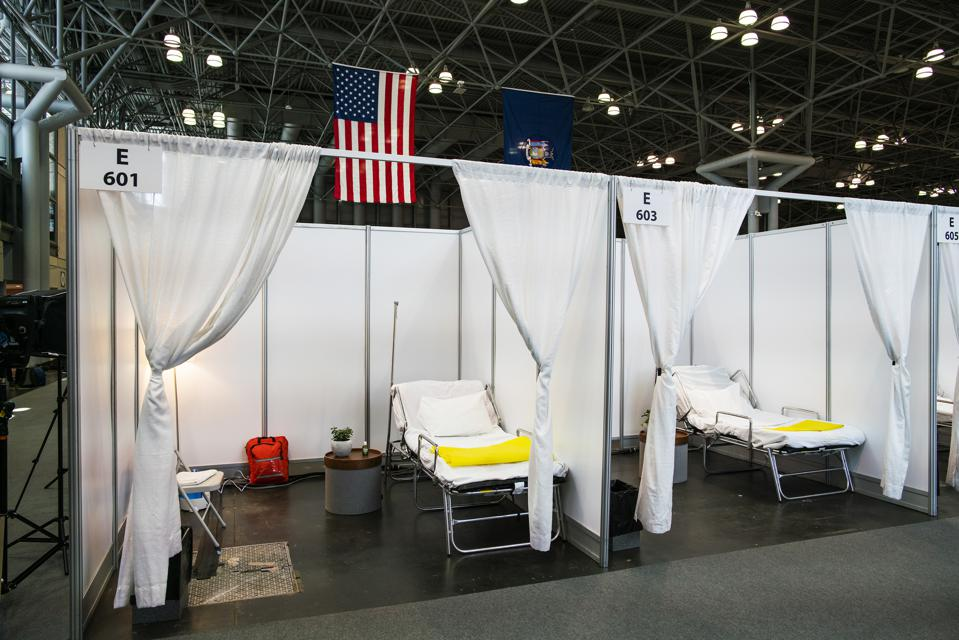 NY Governor Andrew Cuomo Holds Daily Briefing At Javits Center