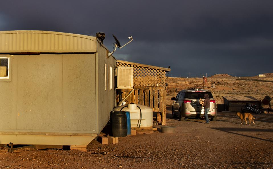 Navajoland is a virus hotspot. About 10 percent of Navajo homes don't have electricity.