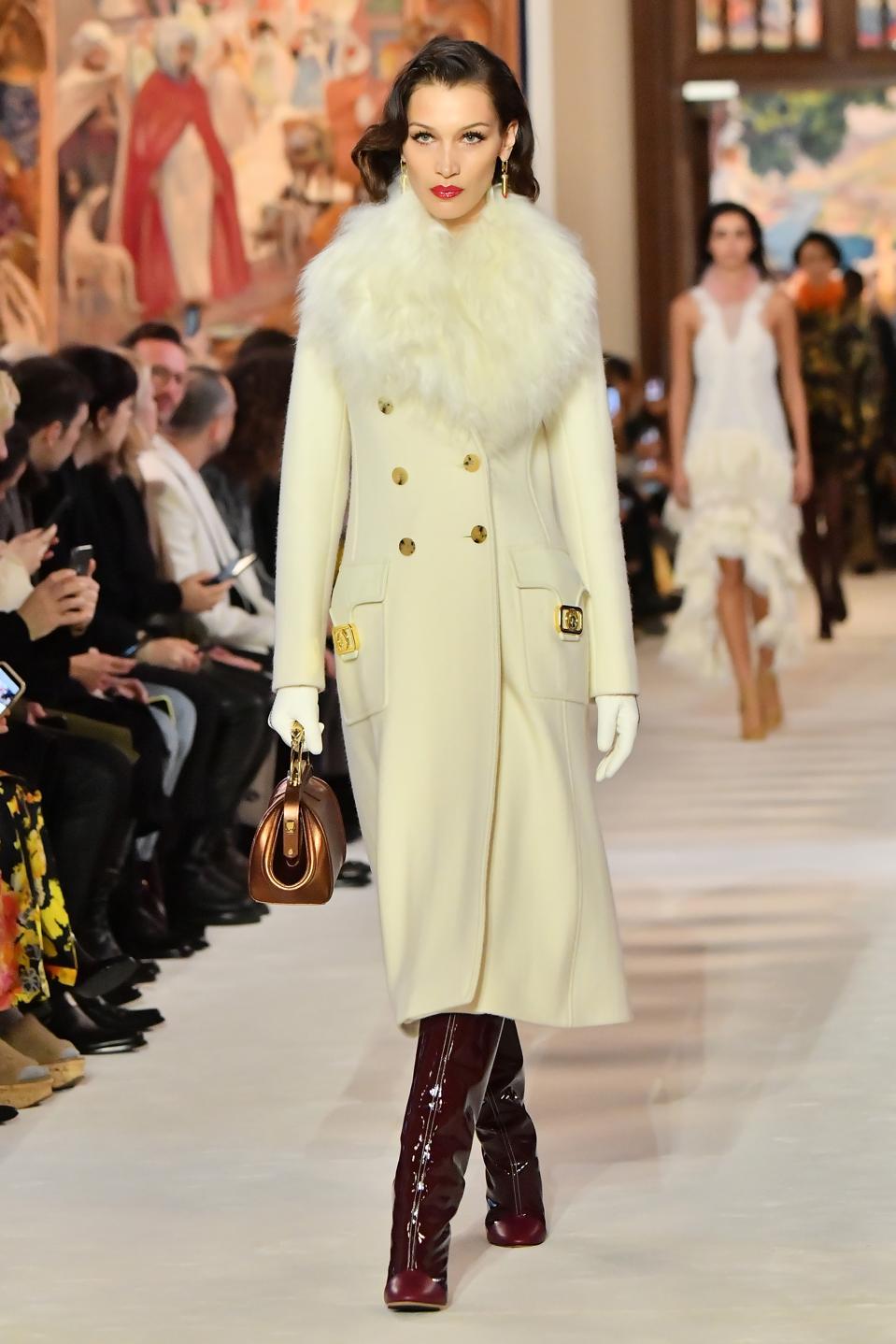 Lanvin Autumn/Winter 2020: Headbands, Hadids, And Haute Glam