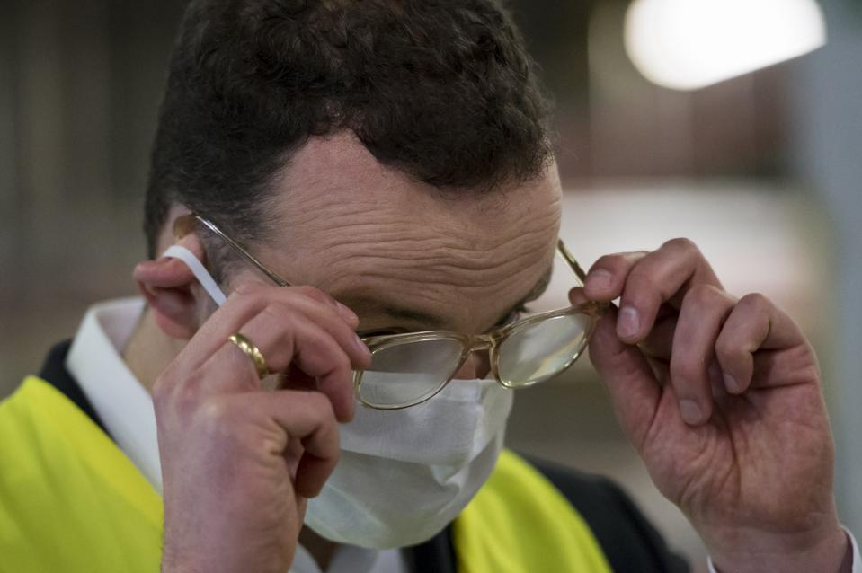 Health Minister Spahn Visits Distribution Center For Protective clothing During The Coronavirus Crisis